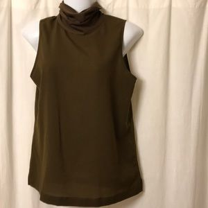 Army green sleeveless blouse French connection M